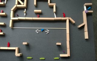 Visualization of the game mechanics with the help of a traditional prototype